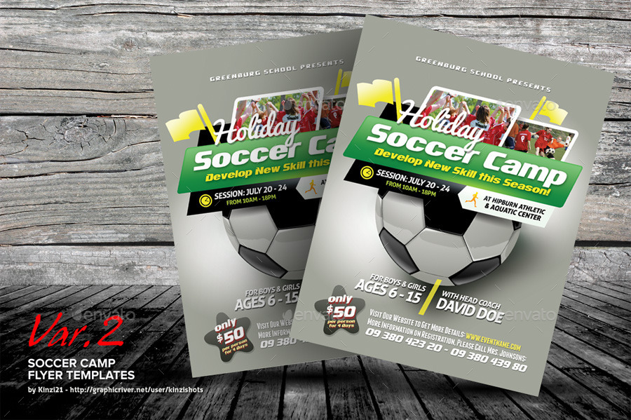 Soccer Camp Flyer Templates by kinzishots – Soccer Flyer Template