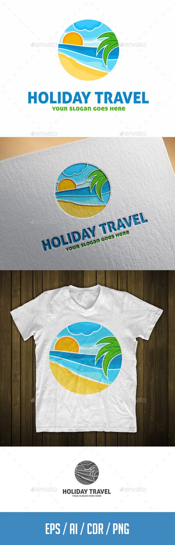 GraphicRiver Holiday Travel Logo Template 11555874