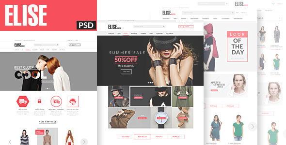 ThemeForest Elise Fashion PSD Template 11502564