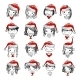Santa Girl Collection, Sketch For Your Design - GraphicRiver Item for Sale