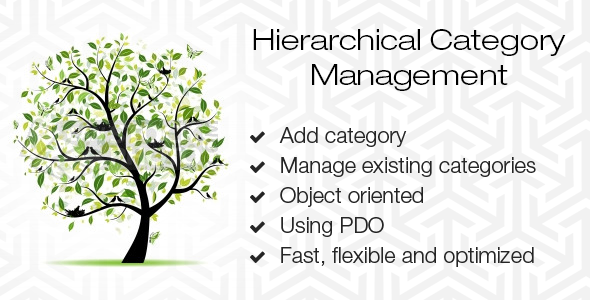 CodeCanyon Hierarchical Category Management 11555976