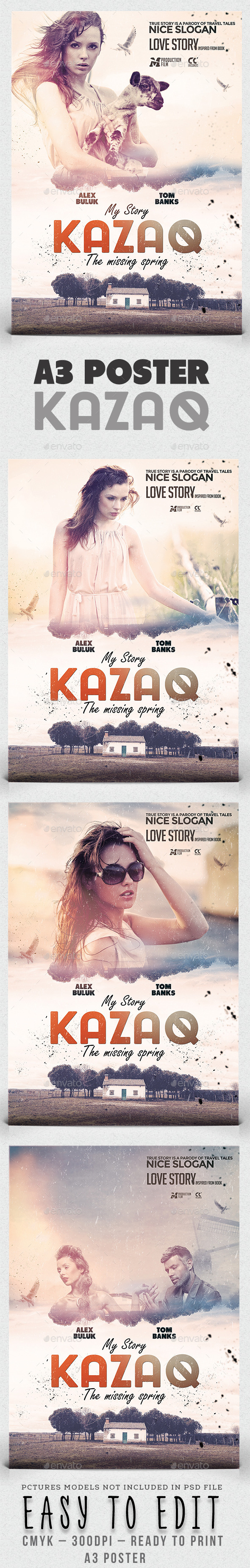 GraphicRiver A3 My Story Kazaq Poster Film Template 11556023