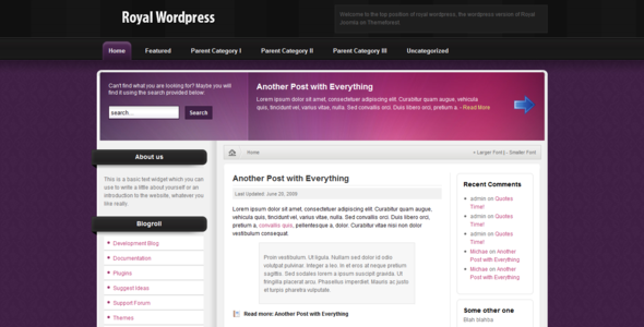 ThemeForest Royal Wordpress 46984
