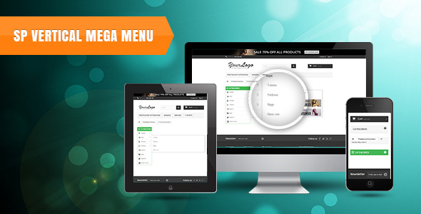 CodeCanyon SP Vertical Menu Responsive Prestashop Module 11556278
