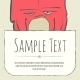 Cute Doodle Cartoon Monster Greeteng Or Invitation - GraphicRiver Item for Sale