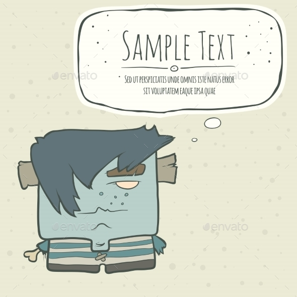 GraphicRiver Illustration Hand Drawn Cartoon Boy Zombie 11556345
