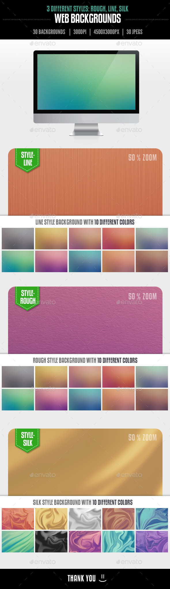 GraphicRiver 30 Web Backgrounds Rough Silk and Line Styles 11556585