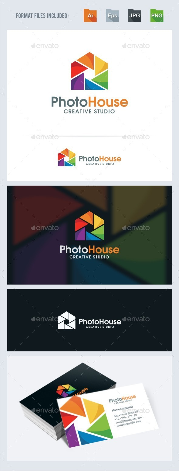 GraphicRiver Photo House Logo Template 11556662