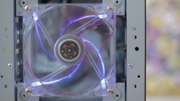 Rotation Computer Fan With Lighting