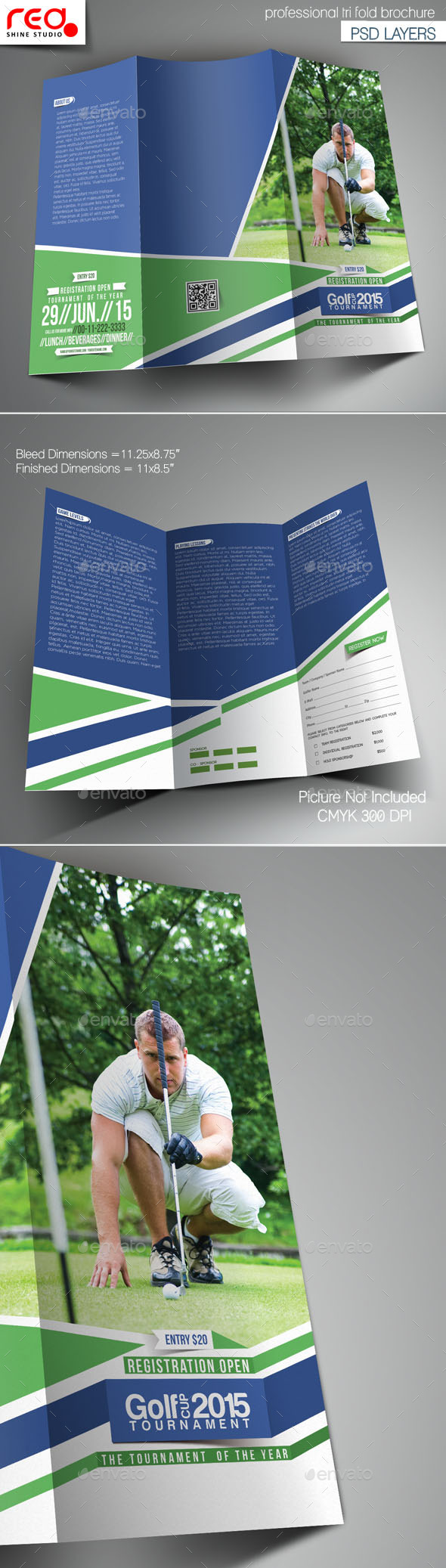 GraphicRiver Golf Cup Tournament Trifold Brochure Template 2 11556861