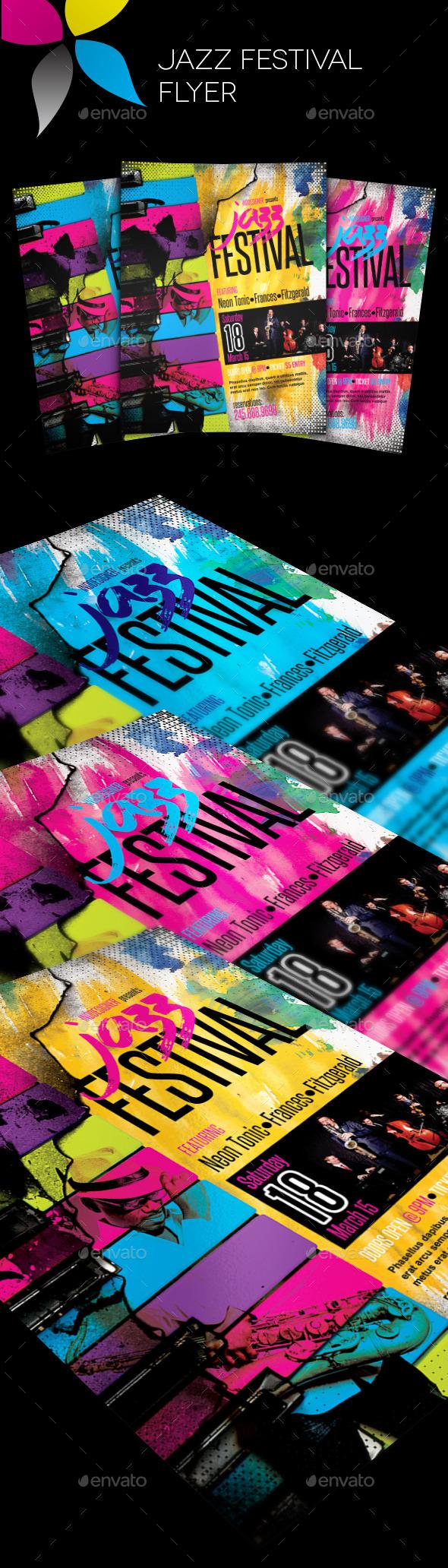 GraphicRiver Jazz Festival Flyer 11556908
