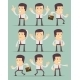 Businessman In Motion On Background. Collection. - GraphicRiver Item for Sale