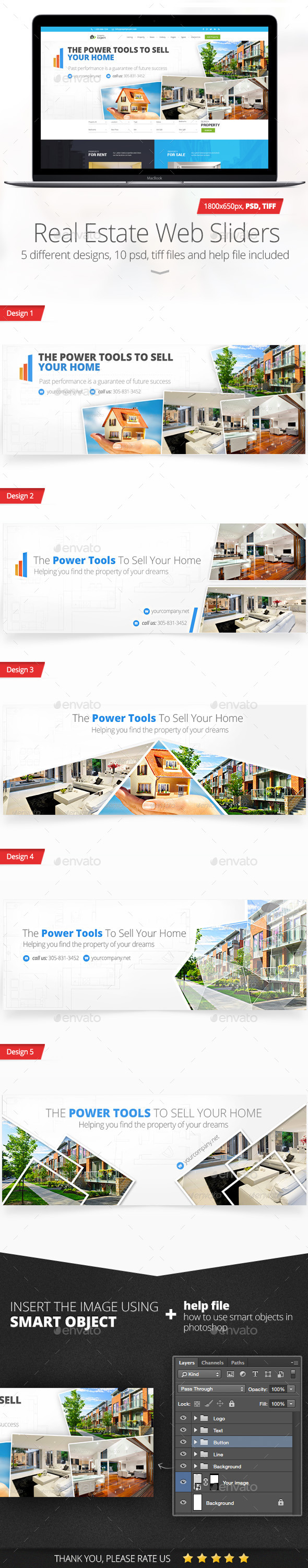 GraphicRiver Real Estate Web Sliders 11553747