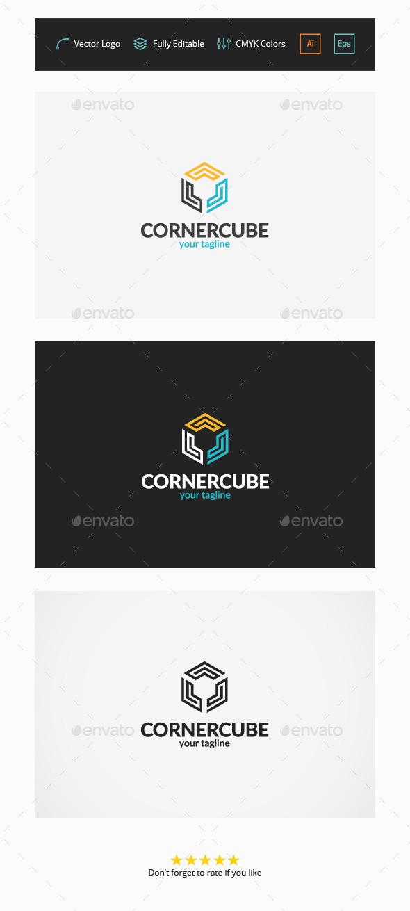 GraphicRiver Corner Cube Logo Template 11557081
