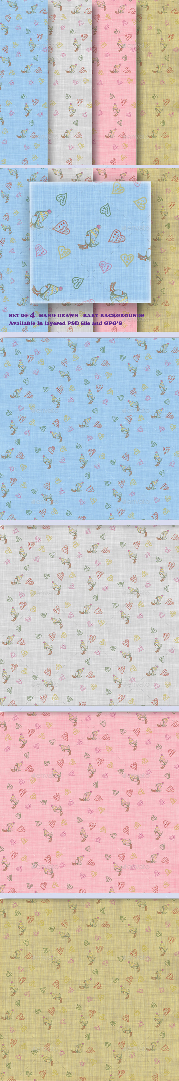 GraphicRiver Hand Draw Baby Backgrounds 11557110