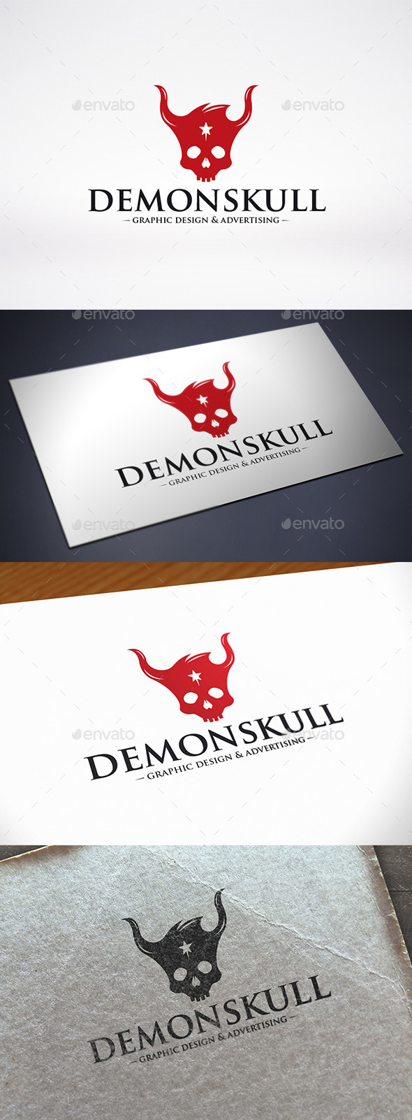 GraphicRiver Demon Skull Logo Template 11557169