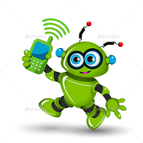 GraphicRiver Robot with Telephone 11557284
