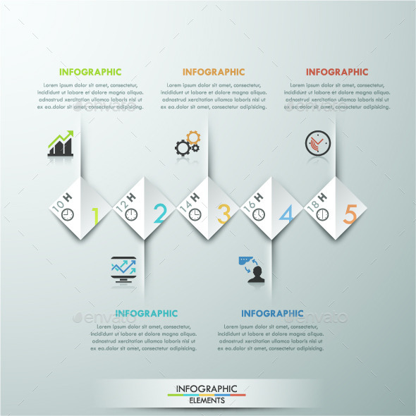 GraphicRiver Modern Infographic Paper Template 11557372