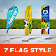 Feather / Bow / Sail Flag Mockup - GraphicRiver Item for Sale