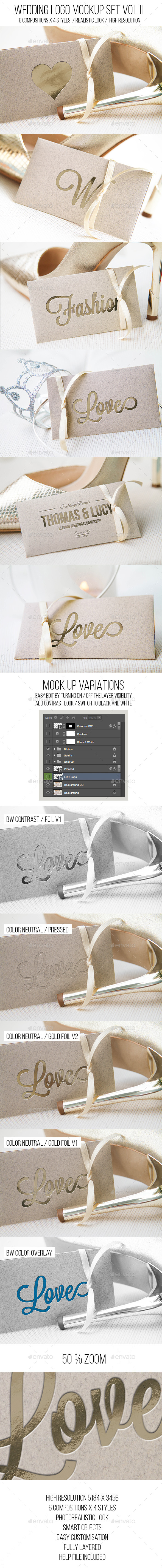 GraphicRiver Wedding Logo Mockup Set Vol II 11555704