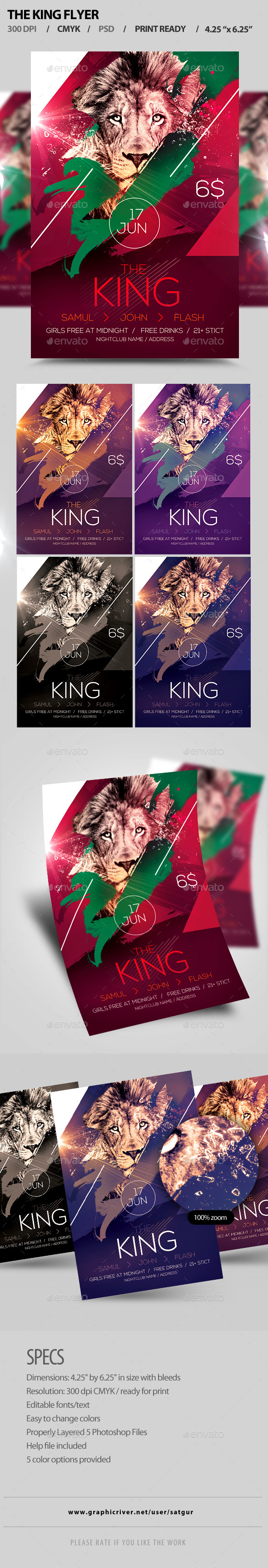 GraphicRiver The King Flyer 11557617