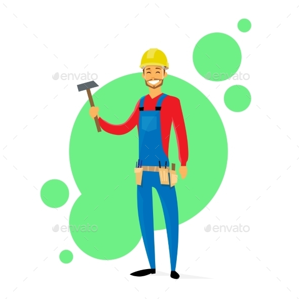 GraphicRiver Cartoon Builder Construction Carpenter Worker 11557644