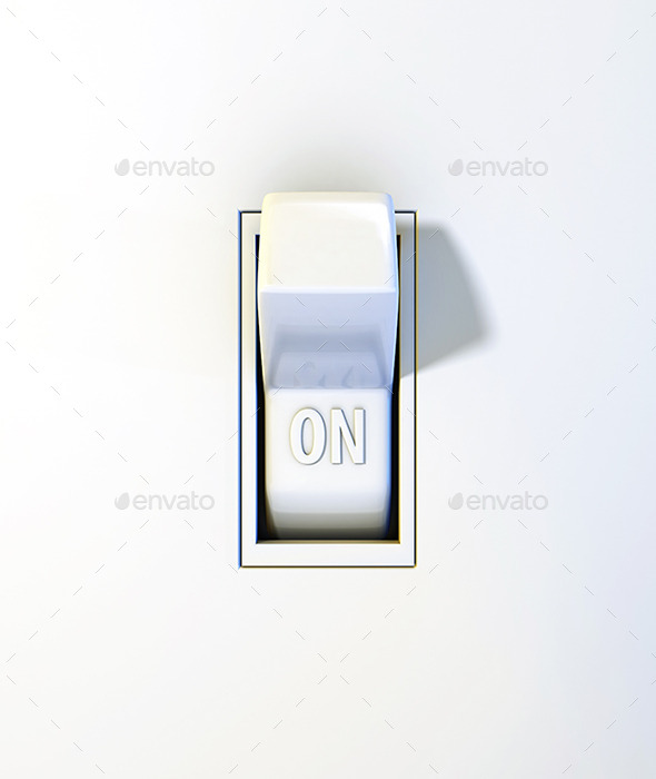 GraphicRiver Close Up Wall Light Switch in the On Position 11557681