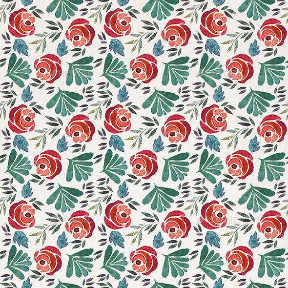 GraphicRiver Rose Pattern 11557751