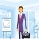 Business Man With Briefcase Suit At Office - GraphicRiver Item for Sale