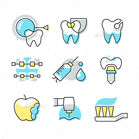GraphicRiver Dental Care Icons 11557873