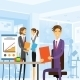 Business People Working Sitting At Office - GraphicRiver Item for Sale