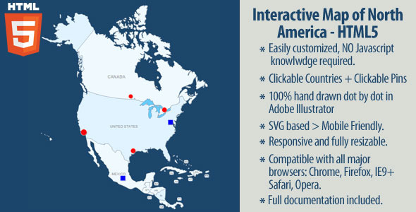 CodeCanyon Interactive Map of North America 11557929