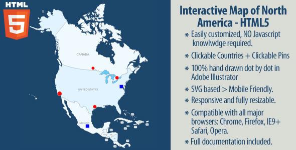 CodeCanyon Interactive Map of North America 11557929