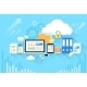 Computer Device Data Cloud Storage Security Flat - GraphicRiver Item for Sale