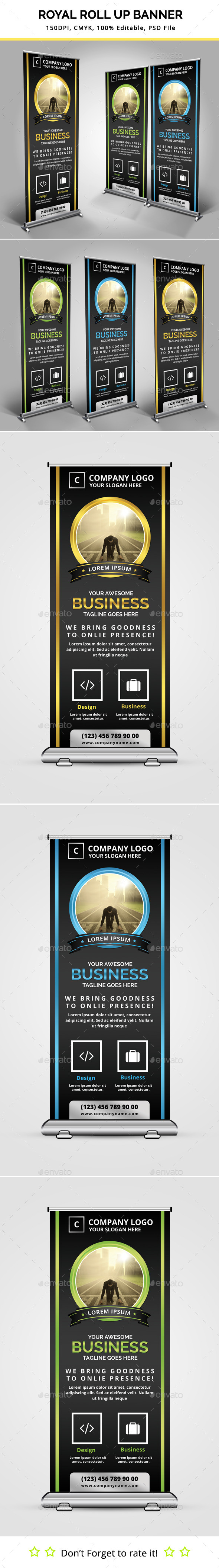 GraphicRiver Royal Roll Up Banner 11558128