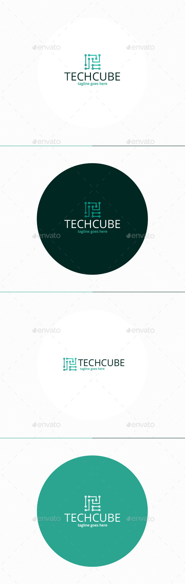 GraphicRiver Tech Cube Logo 11558148