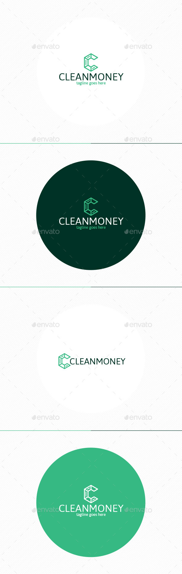 GraphicRiver Clean Money Logo Letter C 11558175