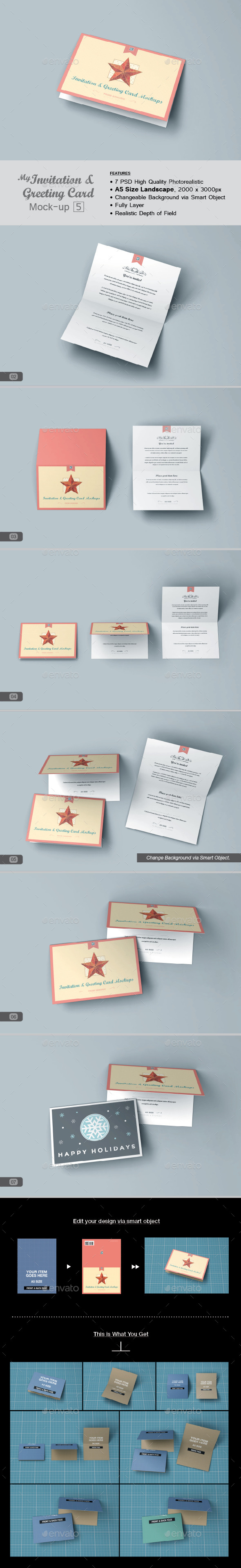 GraphicRiver myGreeting Card Mock-up v5 11558307