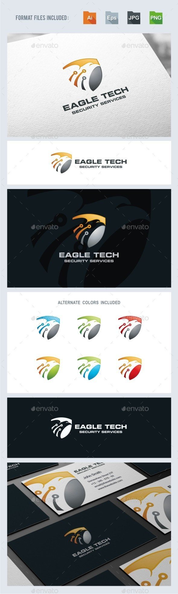 GraphicRiver Eagle Tech Logo Template 11558325