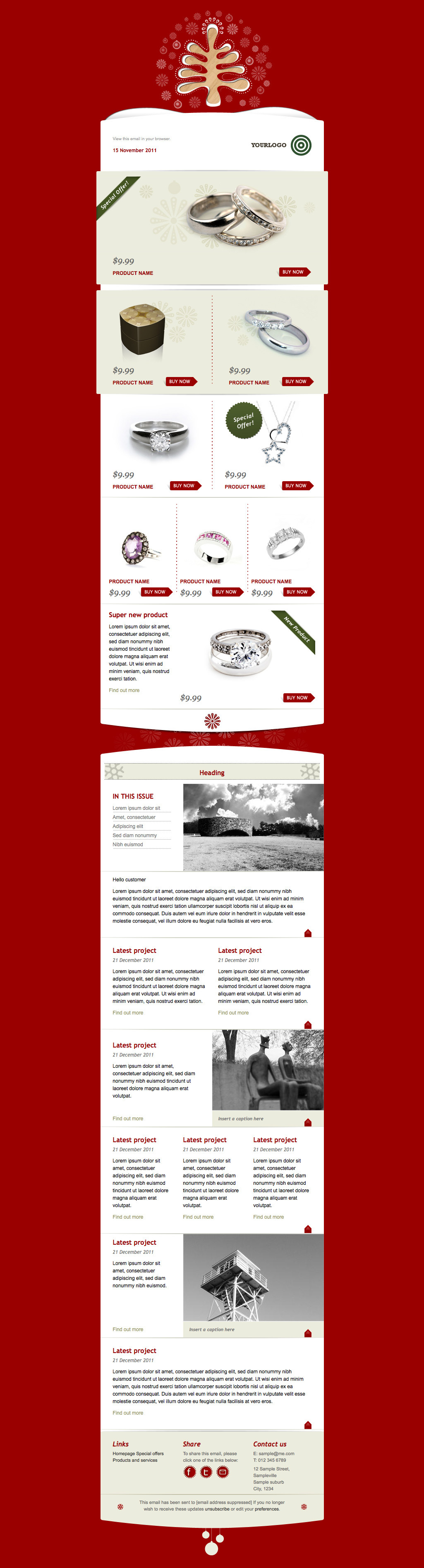 Simply Christmas 2 - Example layout using full red template