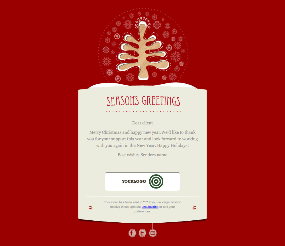 Simply Christmas 2 - Example red card template.