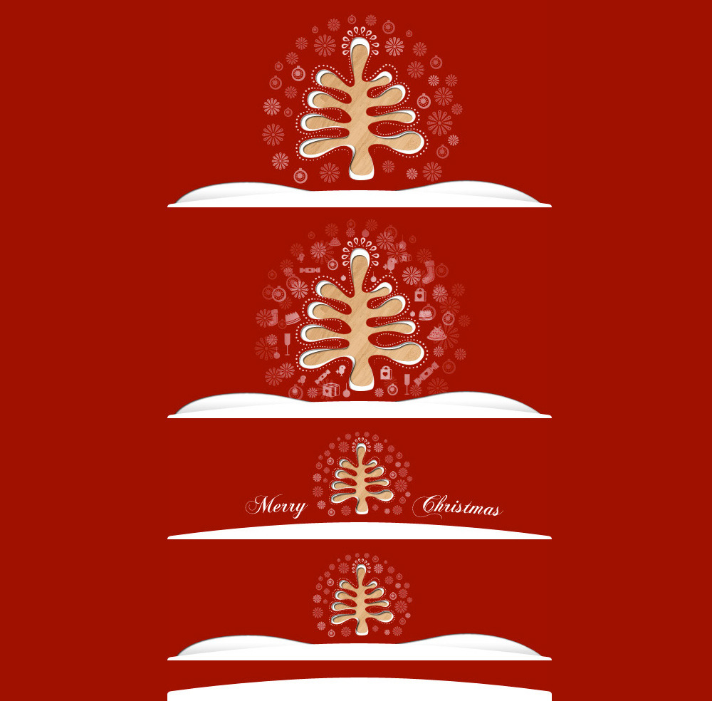 Simply Christmas 2 - Template header options.
