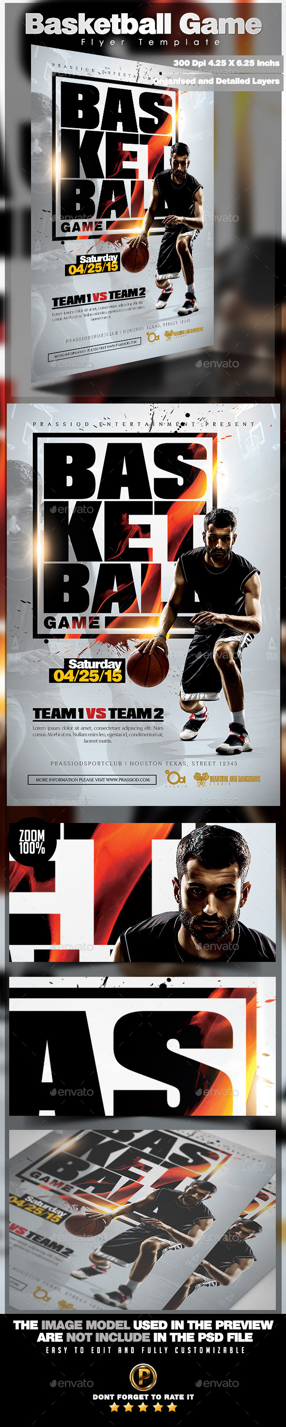 GraphicRiver Basketball Game Flyer Template 11558429