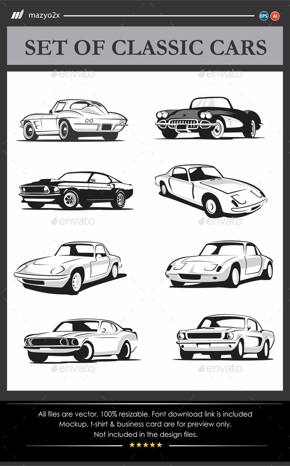 GraphicRiver Classic Cars Vector 11558500