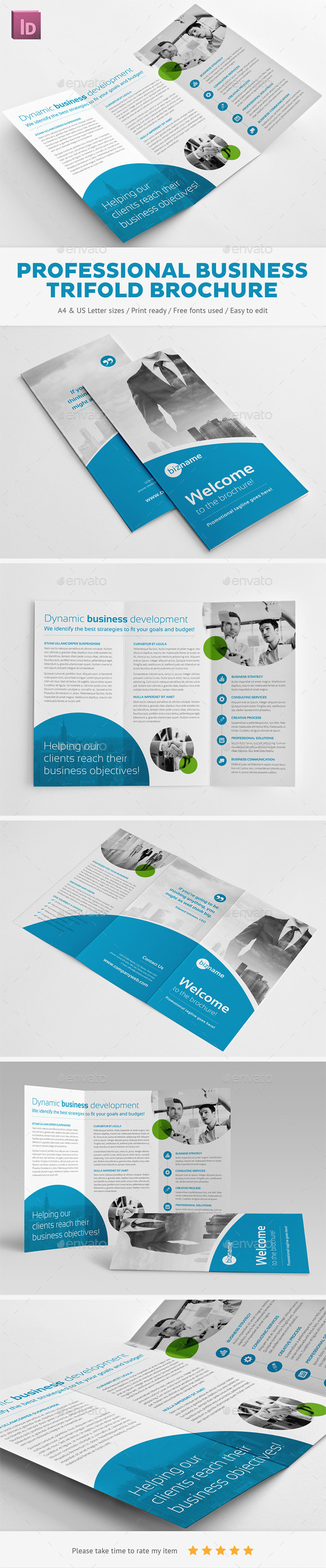 GraphicRiver Professional Business Trifold Brochure 11558562
