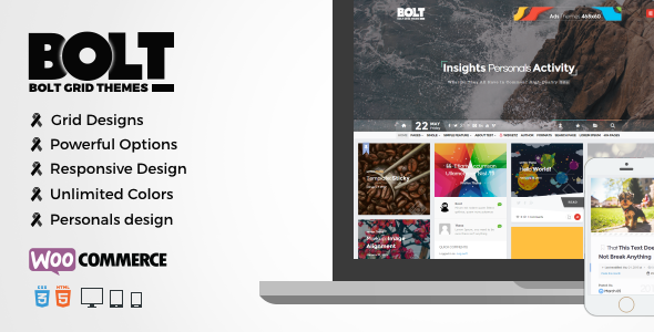BOLT – WP Grid Personals Theme (Personal) Download