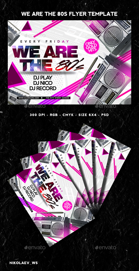GraphicRiver We Are The 80s Flyer 11558685