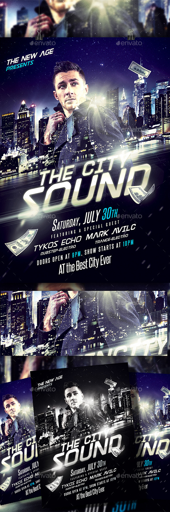 GraphicRiver The City Sound Flyer 11558749