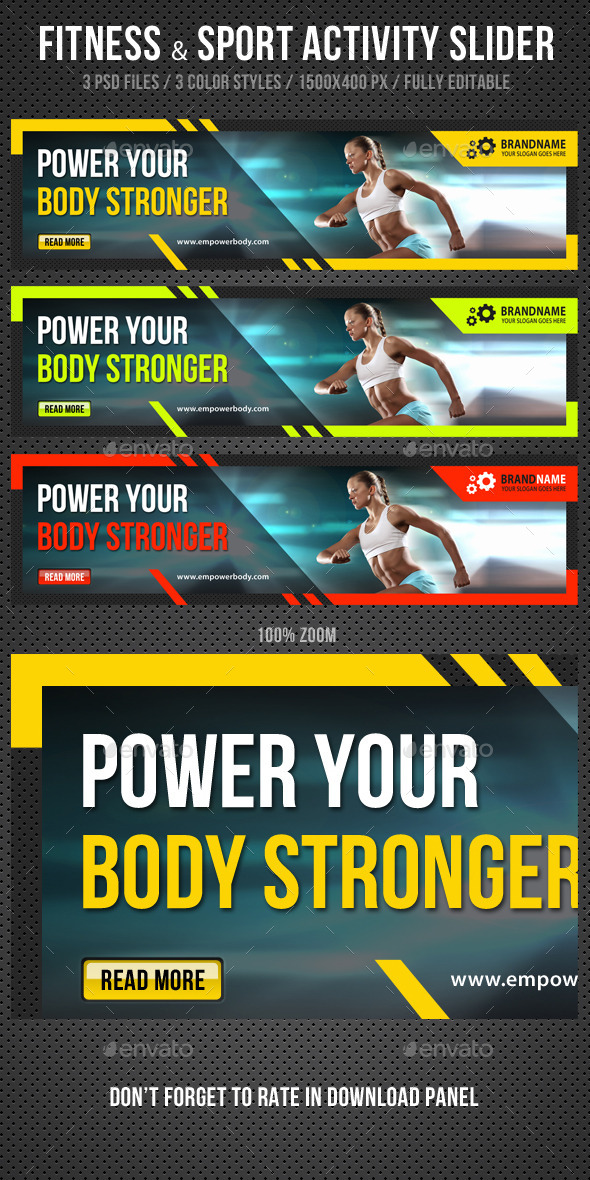 GraphicRiver Fitness & Sport Activity Slider 11559328