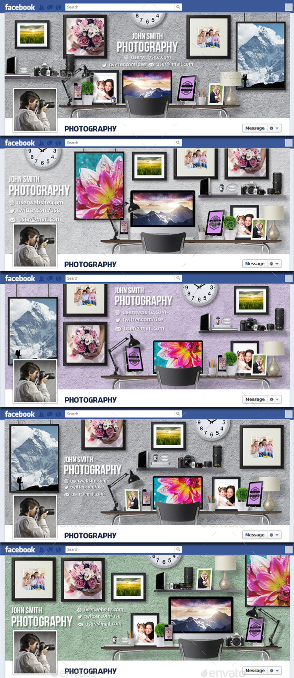 GraphicRiver Photography Workspace Timeline Cover v2 11559396